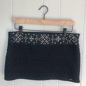 Hollister | Crochet Boho Embellished Mini Skirt